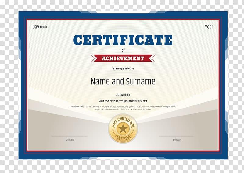 Certificate Of Achievement Document, Academic Certificate Within Unique Academic Certificate