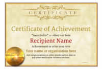 Certificate Of Achievement – Free Templates Easy To Use intended for Certificate Of Merit Templates Editable