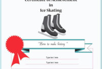 Certificate Of Achievement In Ice Skating. | Skate within Best Ice Skating Certificates