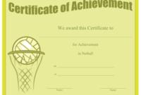 Certificate Of Achievement In Netball Printable Certificate throughout Netball Certificate Templates