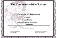 Certificate Of Achievement – Romance Printable Certificate in Best Certificate For Best Boyfriend 10 Sweetest Ideas