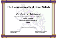 Certificate Of Achievement – Runners Printable Certificate intended for Unique Physical Education Certificate 8 Template Designs