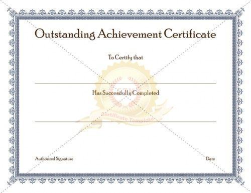 Certificate Of Achievement Template Awarded For Different with Outstanding Achievement Certificate