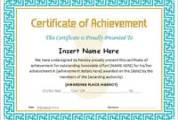 Certificate Of Achievement Template For Ms Word Download A with Unique Certificate Of Achievement Template Word