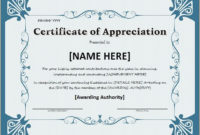 Certificate Of Appreciation For Ms Word Download At Http intended for Best Honor Certificate Template Word 7 Designs Free