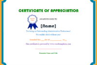 Certificate Of Appreciation | Microsoft Word Templates inside Employee Appreciation Certificate Template