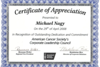 Certificate Of Appreciation Template Free Printable (8) – T in Unique Student Council Certificate Template 8 Ideas Free