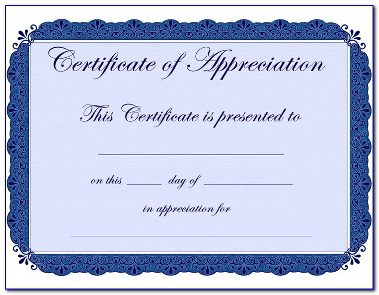 Certificate Of Appreciation Templates Editable | Vincegray2014 With Regard To Editable Certificate Of Appreciation Templates