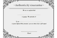 Certificate Of Authenticity Jewellery Free 2 | Two Package with Unique Certificate Of Authenticity Free Template