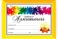 Certificate Of Awesomeness – Dabbles & Babbles | Free for Fresh Good Behaviour Certificate Templates