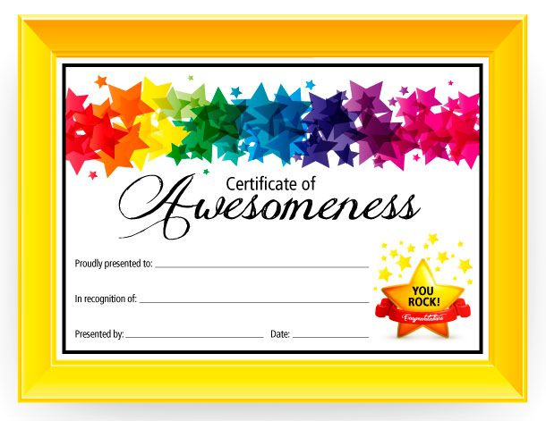 Certificate Of Awesomeness - Dabbles & Babbles | Free With Regard To 9 Math Achievement Certificate Template Ideas
