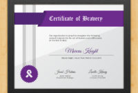 Certificate Of Bravery – Fearlessaward Hut pertaining to Best Bravery Certificate Templates