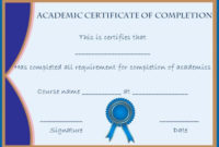 Certificate Of Completion: 22 Templates In Word Format pertaining to Training Completion Certificate Template 10 Ideas