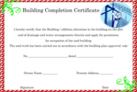 Certificate Of Completion Construction Templates (1 intended for Certificate Of Job Promotion Template 7 Ideas