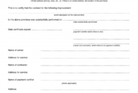 Certificate Of Completion Construction Templates (4 inside Certificate Of Construction Completion