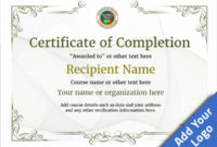 Certificate Of Completion – Free Quality Printable Templates inside Completion Certificate Editable