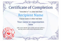 Certificate Of Completion – Free Quality Printable Templates regarding Completion Certificate Editable