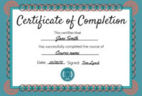Certificate Of Completion Templates | Customize In Seconds in Fresh Completion Certificate Editable