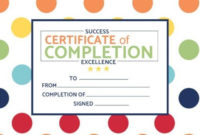 Certificate Of Completion Templates | Customize In Seconds intended for Certificate Of Completion Templates Editable