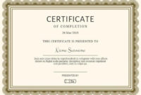 Certificate Of Completion Templates | Customize In Seconds throughout Certificate Of Completion Templates Editable