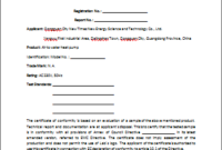 Certificate Of Compliance Template (3) – Templates Example regarding Fresh Certificate Of Conformity Template Ideas