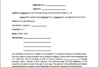 Certificate Of Compliance Template (3) – Templates Example with Certificate Of Conformity Templates