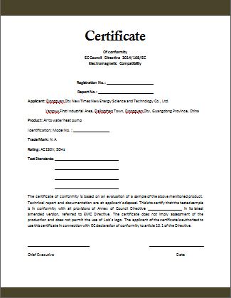 Certificate Of Compliance Template (3) - Templates Example With Certificate Of Conformity Templates