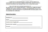 Certificate Of Compliance Template (4) – Templates Example inside Certificate Of Conformity Template Ideas
