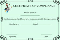 Certificate Of Compliance Template Beautiful 16 Best regarding Fresh Certificate Of Compliance Template 10 Docs Free