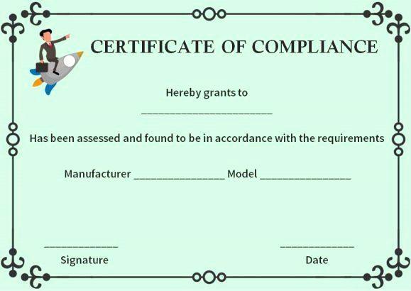 Certificate Of Compliance Template Beautiful 16 Best Regarding Fresh Certificate Of Compliance Template 10 Docs Free