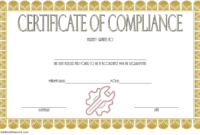 Certificate Of Compliance Template For Manufacturing Free 5 with regard to Certificate Of Compliance Template 10 Docs Free