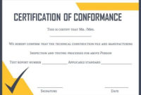 Certificate Of Conformance Template | Templates, Free with regard to Certificate Of Conformity Template Ideas