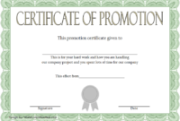Certificate Of Job Promotion Template Free 1 In 2020 throughout Best Certificate Of Job Promotion Template 7 Ideas