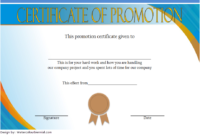 Certificate Of Job Promotion Template Free 2 In 2020 inside Unique Certificate Of School Promotion 10 Template Ideas