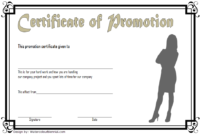 Certificate Of Job Promotion Template Free 6 In 2020 with regard to Unique Job Promotion Certificate Template Free