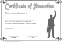 Certificate Of Job Promotion Template Free 7 In 2020 | Job within Unique Job Promotion Certificate Template Free