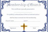 Certificate Of Membership Template Fresh Free Church inside Best Membership Certificate Template Free 20 New Designs
