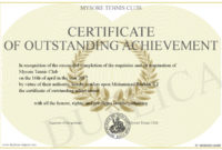 Certificate-Of-Outstanding-Achievement in Outstanding Achievement Certificate