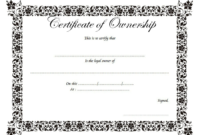 Certificate Of Ownership Of Property Free Printable 1 In inside Download Ownership Certificate Templates Editable