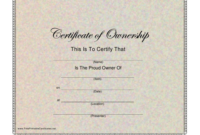 Certificate Of Ownership Template Download Printable Pdf pertaining to Fresh Certificate Of Ownership Template