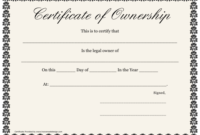 Certificate Of Ownership Template Download Printable Pdf regarding Ownership Certificate Templates