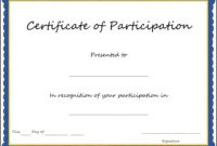 Certificate Of Participation Format Pdf Great Certificate intended for Certificate Of Participation Template Doc 10 Ideas
