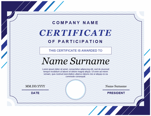Certificate Of Participation In Fresh Certificate Of Participation Template Doc 10 Ideas