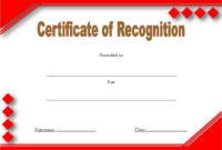 Certificate Of Recognition Template Word Free (10+ Concepts) throughout Certificate For Baking 7 Extraordinary Concepts