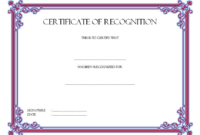 Certificate Of Recognition Template Word Free (10+ Concepts) within Unique Certificate For Baking 7 Extraordinary Concepts