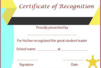 Certificate Of Recognition Templates: 30+ Best Ideas And throughout Best Student Leadership Certificate Template Ideas