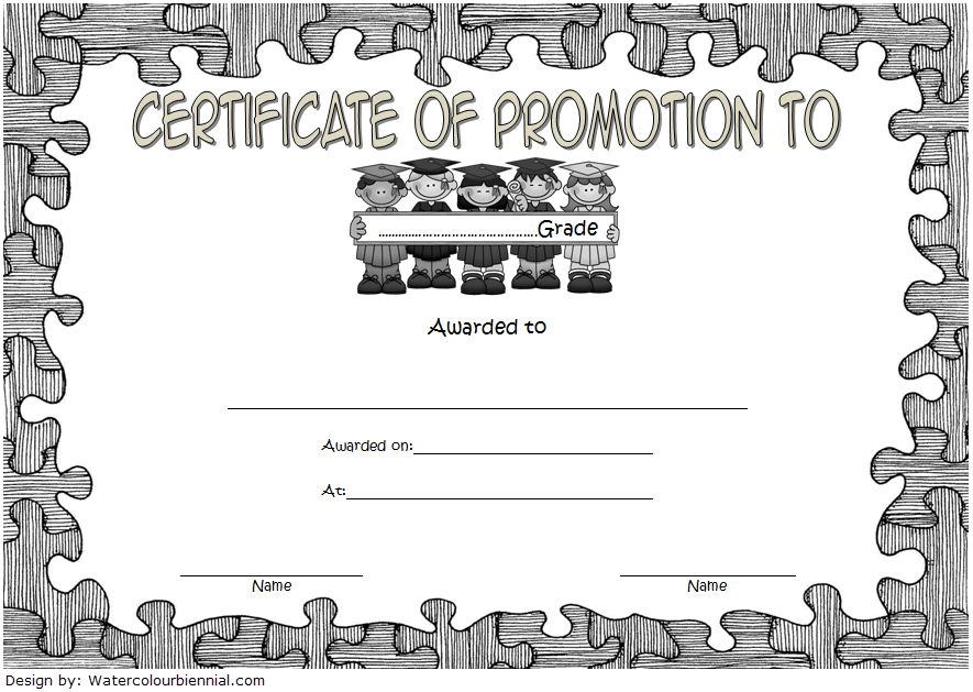 Certificate Of School Promotion Template 10 Free intended for Unique School Promotion Certificate Template 10 New Designs Free