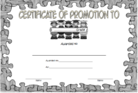 Certificate Of School Promotion Template 10 Free regarding Best Grade Promotion Certificate Template Printable