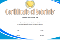 Certificate Of Sobriety 2020 Templates Free Editable regarding Certificate Of Sobriety Template Free