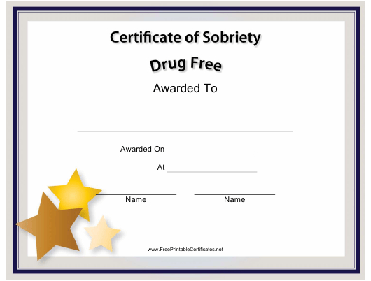 Certificate Of Sobriety Templates Pdf. Download Fill And Intended For Certificate Of Sobriety Template Free